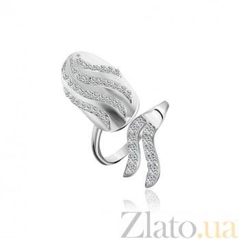 Кольцо из серебра с фианитами Огненная стихия 000028118