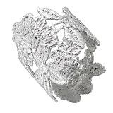 Серебряное широкое кольцо Кружево