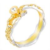 Серебряное кольцо с позолотой Иллирия