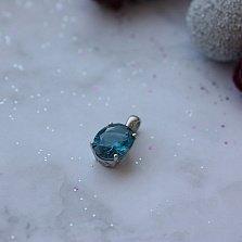 Серебряный подвес Элизиум с кварцем london blue