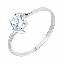 Серебряное кольцо Бриония с фианитом