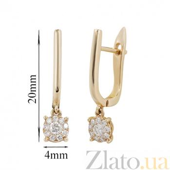 Золотые серьги с бриллиантами Фаворитка 000026606