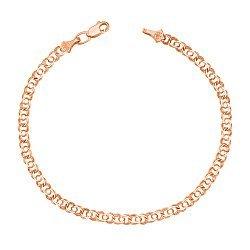 Золотой браслет Арабка в красном цвете в плетении арабский бисмарк 000123525