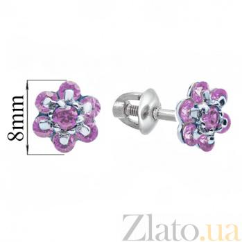 Серебряные серьги Плюмерия TNG--520241С