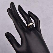 Обручальное золотое кольцо в красном цвете Сила любви с тремя бриллиантами