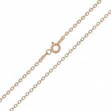 Серебряная цепочка Пикардия с позолотой, 2 мм