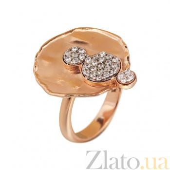 Кольцо из красного золота Адония с фианитами 000081334