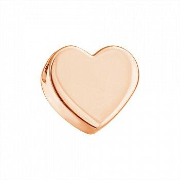 Односторонній кулон-серце з червоного золота 000023363