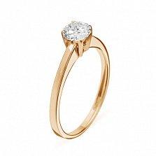 Кольцо из красного золота с бриллиантом Ирида