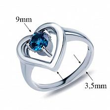 Серебряное кольцо Amore mio с лондон топазом