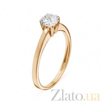 Кольцо из красного золота с бриллиантом Ирида 000016027