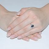 Золотое кольцо с сапфиром Шери