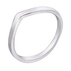 Серебряное фаланговое кольцо Микки с родием в стиле минимализм