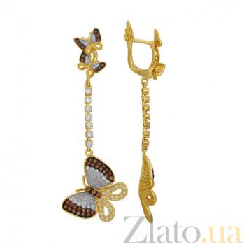Серьги-подвески в желтом золоте Вероника VLT--ТТТ2527