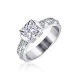 Серебряное кольцо с фианитами Скай