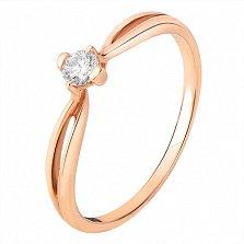 Кольцо с бриллиантом Воздушный поцелуй