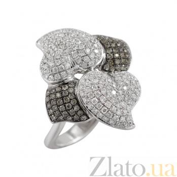 Золотое кольцо с бриллиантами Биение сердец 000026900