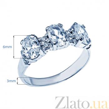Серебряное кольцо с фианитами Алеа 000027181