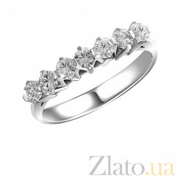 Кольцо из белого золота Сильвия с бриллиантами 000080568