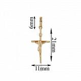 Золотой крест с бриллиантом Рождество