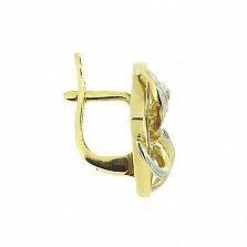 Золотые серьги с бриллиантами и рубинами Вирджиния