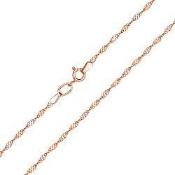 Цепочка из красного золота с родированием 000133563