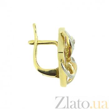 Золотые серьги с бриллиантами и рубинами Вирджиния ZMX--ER-6162y_K