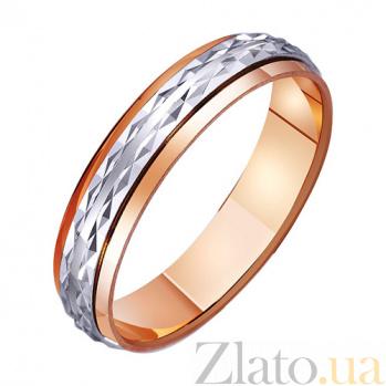 Золотое обручальное кольцо Вечное сияние любви TRF--441174