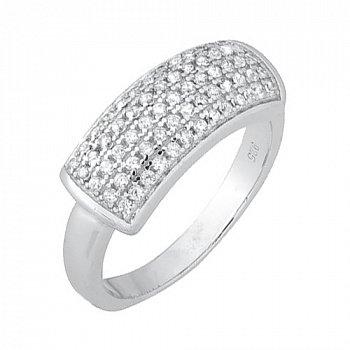 Серебряное кольцо с цирконием 000028290