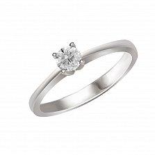 Кольцо из белого золота Любава с бриллиантом