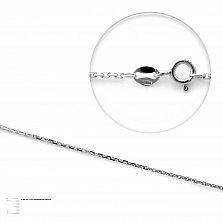 Серебряная цепочка Лунный свет якорного плетения, 1мм
