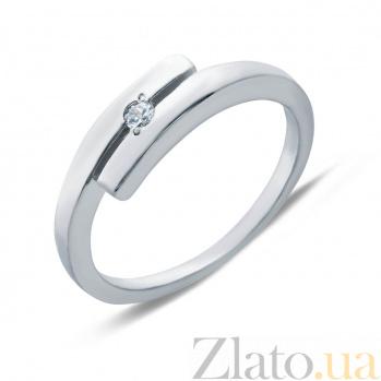 Кольцо серебряное Ольга с фианитом AQA--71020б