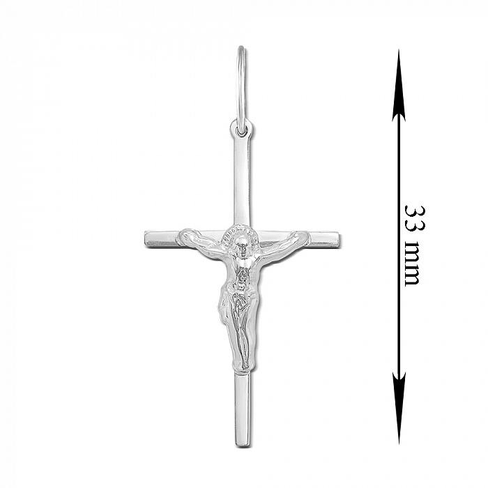 Православный серебряный крестик 000135421 000135421