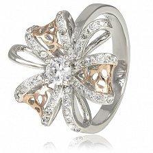 Серебряное кольцо Камилла с фианитами