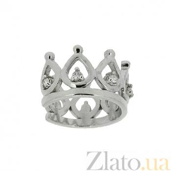 Серебряная серьга-кафф с бриллиантами Барбара ZMX--ED-6940-Ag_K