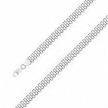 Серебряный чернёный браслет Ортад, 10мм
