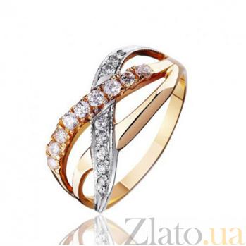 Золотое кольцо с фианитами Бурлеск EDM--КД0328