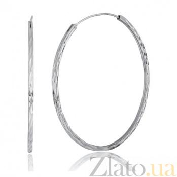 Серебряные серьги-кольца Эссенсе SLX--С2/420