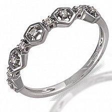 Кольцо из белого золота с бриллиантами Гвен