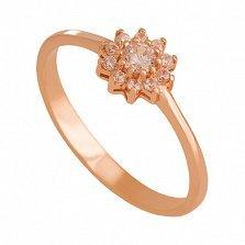 Кольцо из красного золота с фианитами Назира