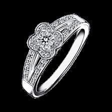 Кольцо в белом золоте с микро-павє Chance of Love