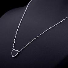 Колье из серебра Романтичное настроение с ониксом и фианитами