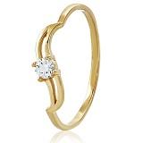 Золотое кольцо с кристаллом Swarovski Татьяна