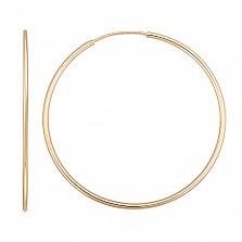 Золотые серьги Инфанта, диам 50 мм