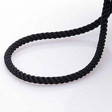 Шелковый шнурок Спаси и сохрани с серебряной позолоченной застежкой, 3мм