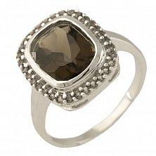 Серебряное кольцо Александра с раухтопазом