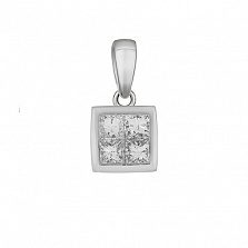 Золотой подвес Риана с бриллиантами