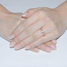 Золотое кольцо с цирконием Амалия