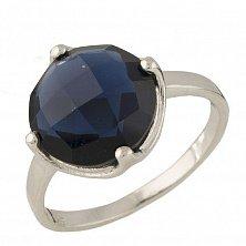 Серебряное кольцо Валери с синтезированным сапфиром