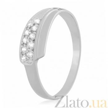 Серебряное кольцо с цирконием Лакшми 000025828